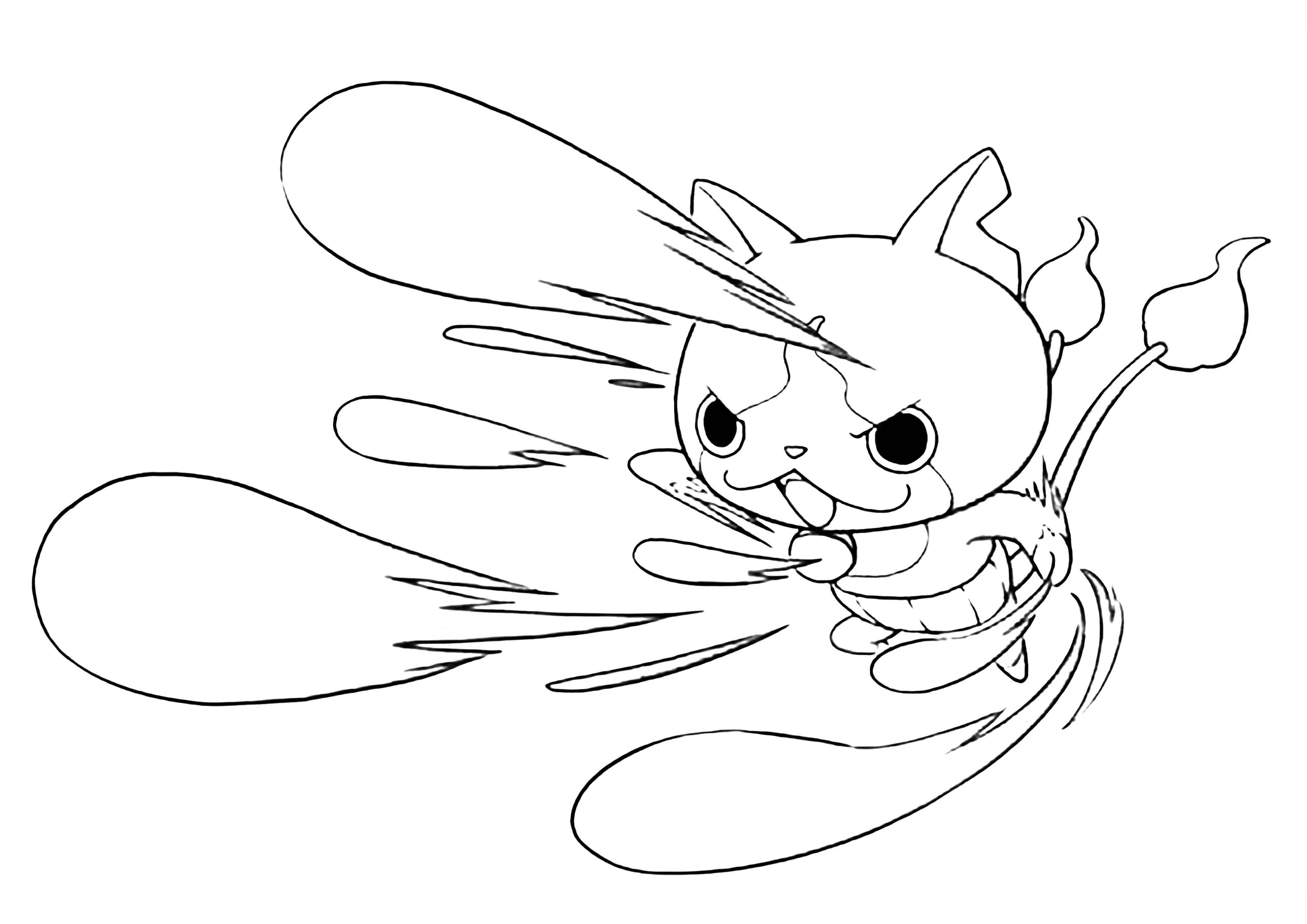 妖怪ウォッチの塗り絵【無料印刷】