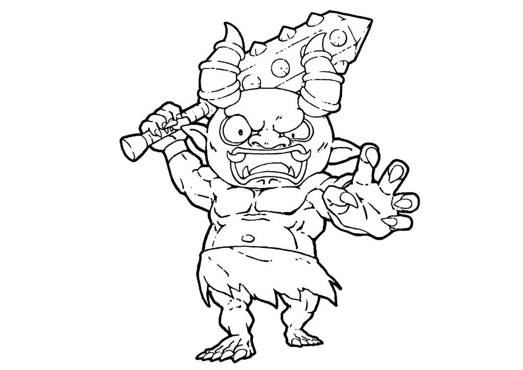 妖怪ウォッチぬりえ-黒鬼