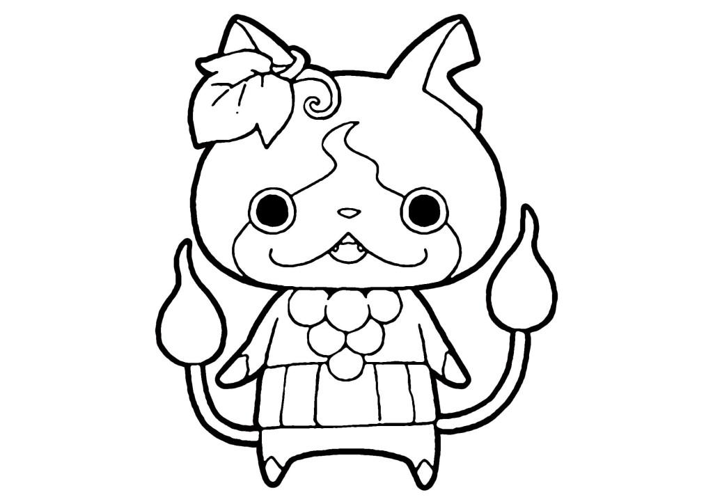 妖怪ウォッチぬりえ-ブドウニャン