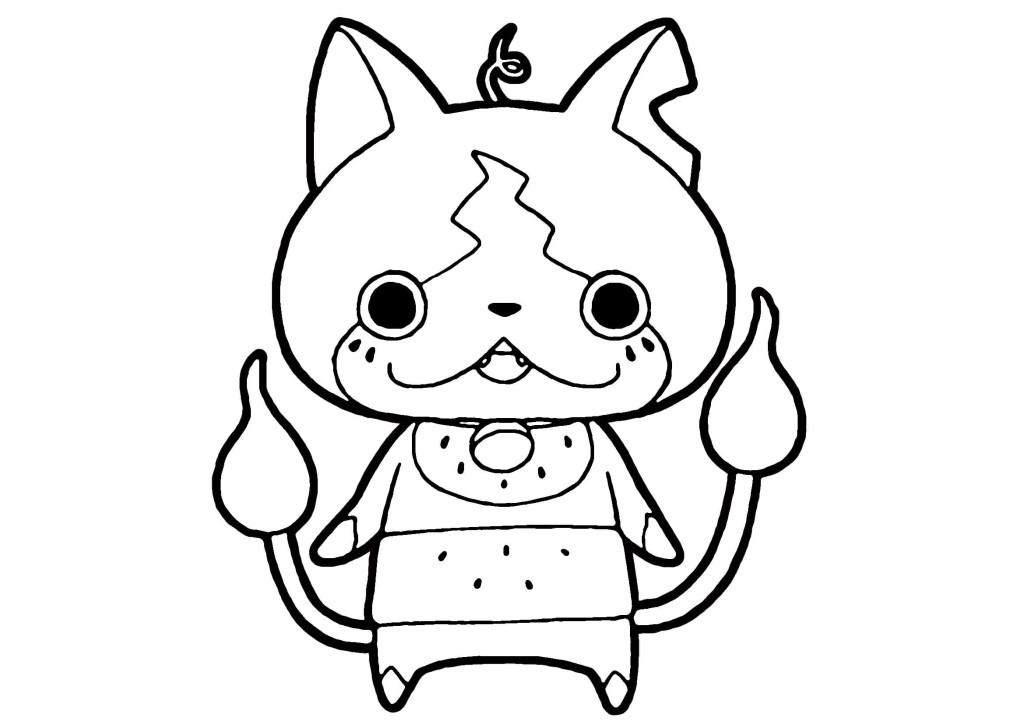 妖怪ウォッチぬりえ-スイカニャン
