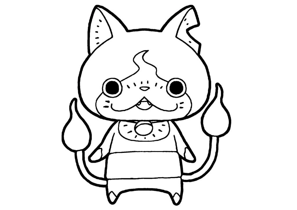 妖怪ウォッチぬりえ-キウイニャン