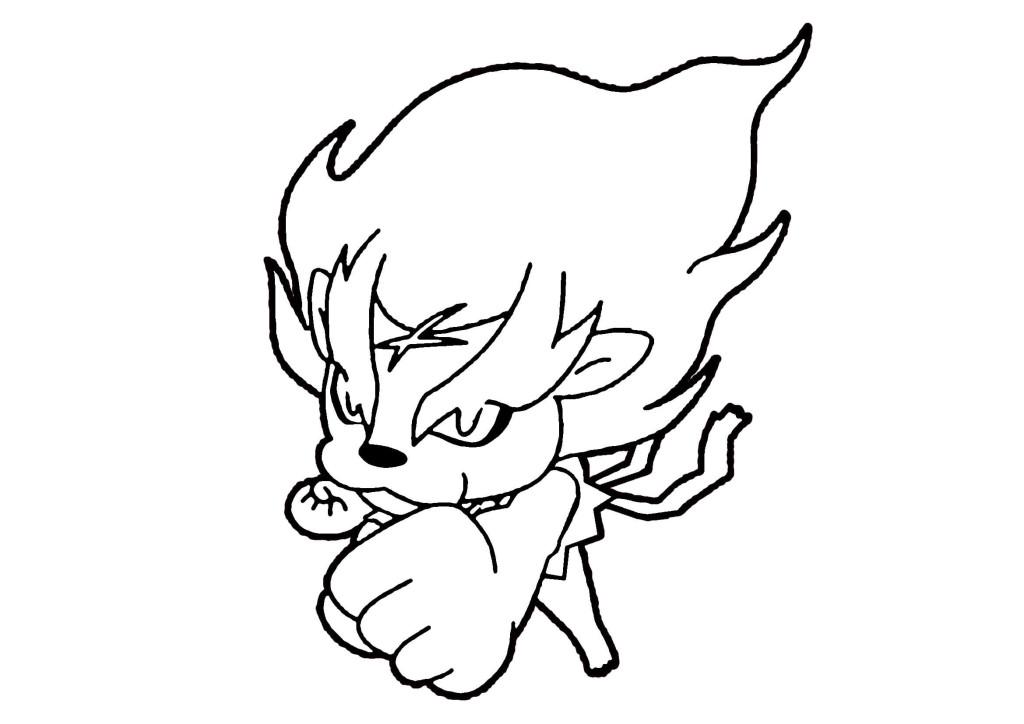 妖怪ウォッチぬりえ-メラメライオン03