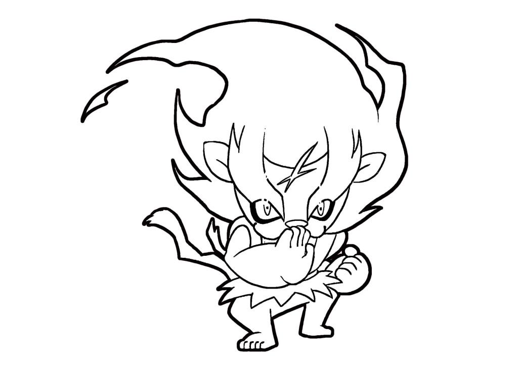 妖怪ウォッチぬりえ-メラメライオン01