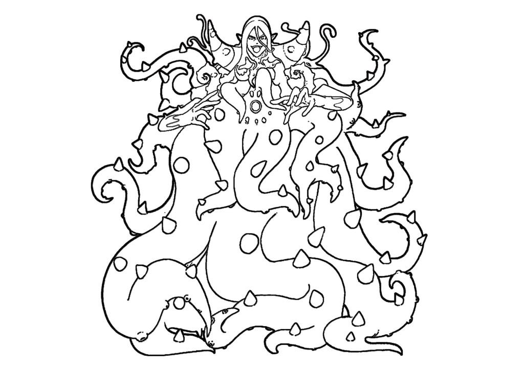 ぬらりひょん-妖怪ウォッチ無料印刷ぬりえ