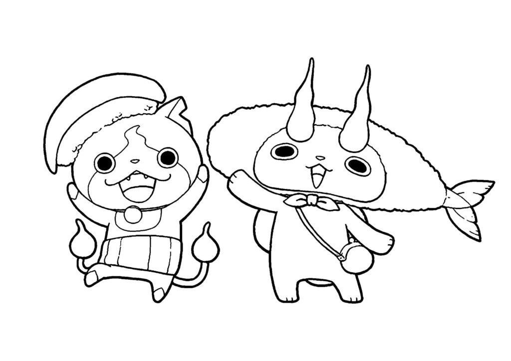 スシジバ・天コマ-妖怪ウォッチ3無料印刷ぬりえ