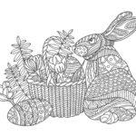 ウサギ02-A4無料印刷の大人のぬりえ
