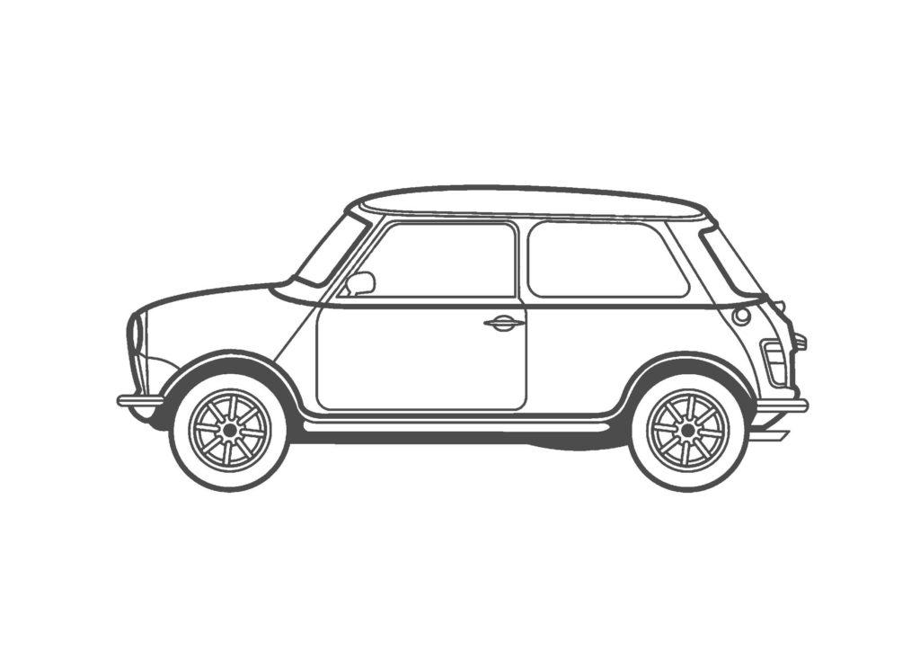 車03-A4無料印刷塗り絵