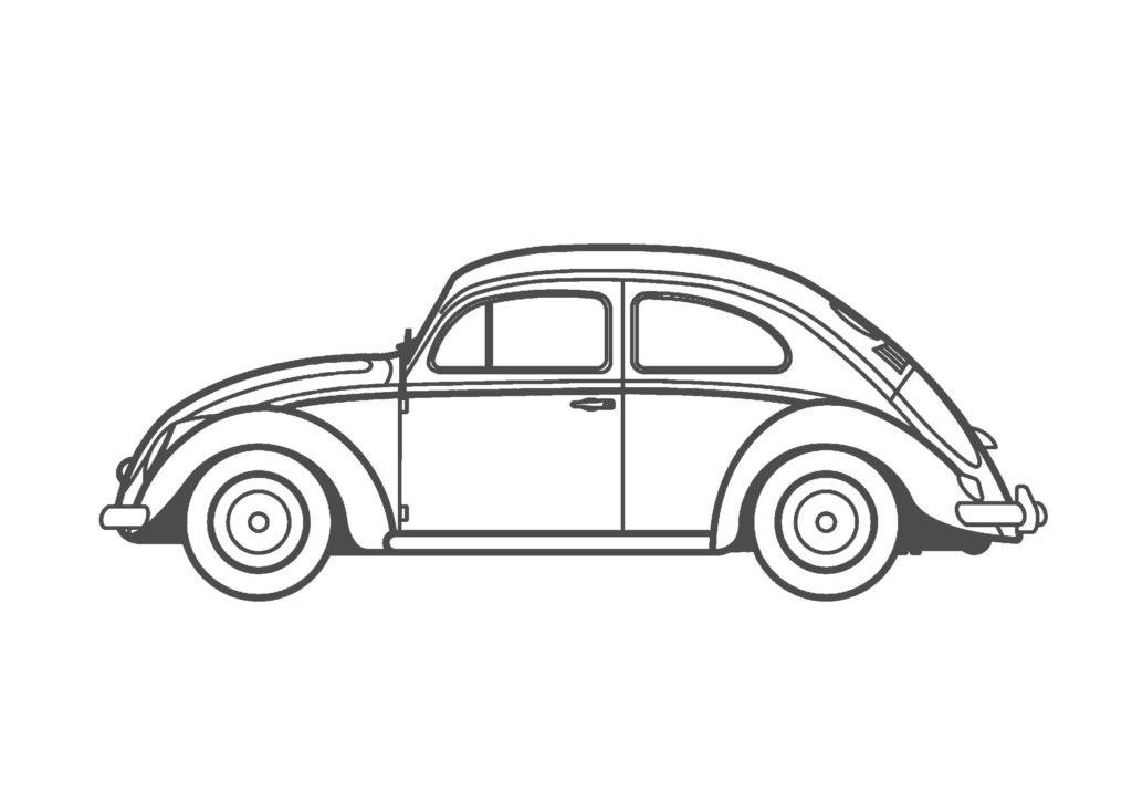車04-A4無料印刷塗り絵