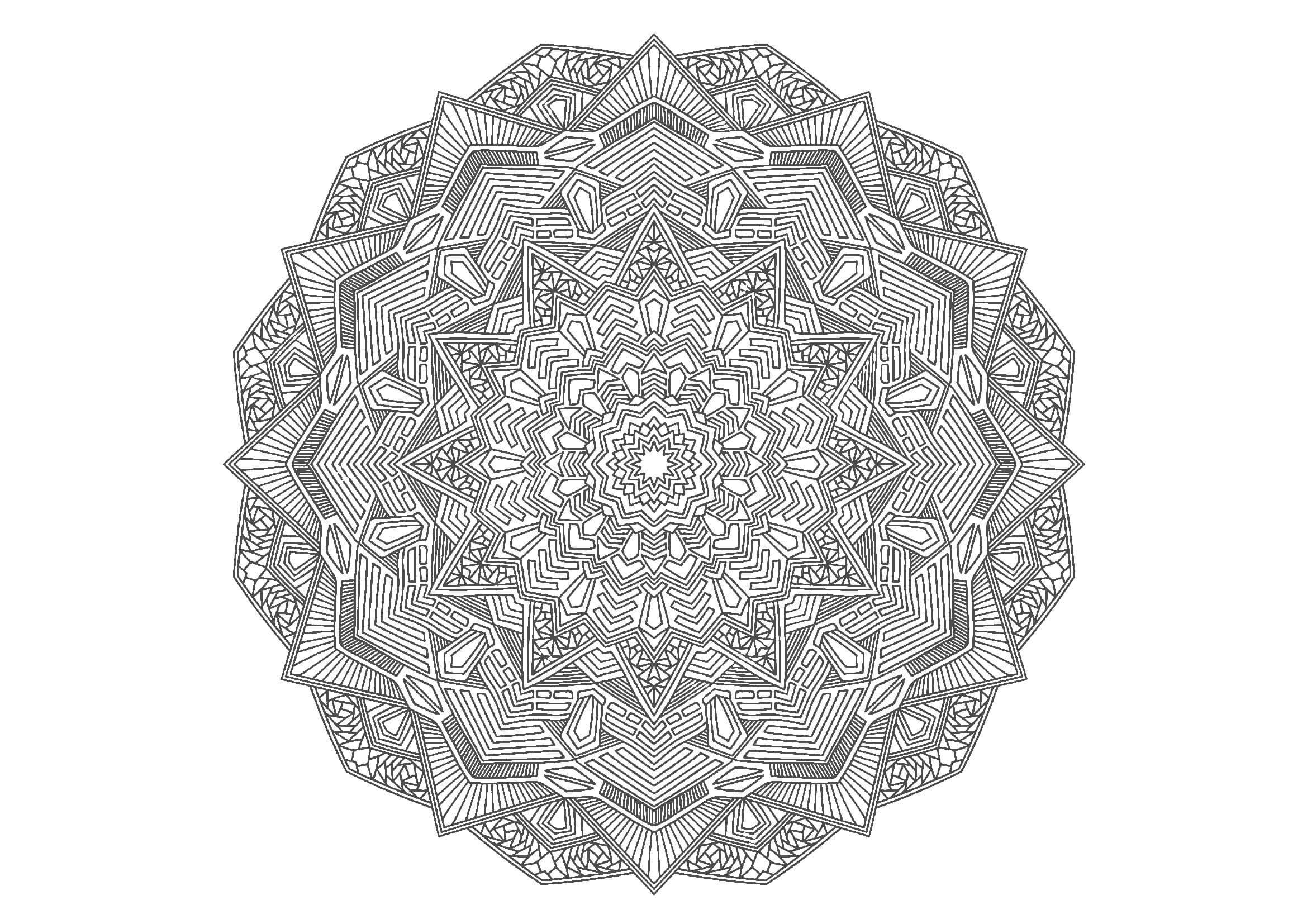 無料のマンダラ塗り絵-曼荼羅05