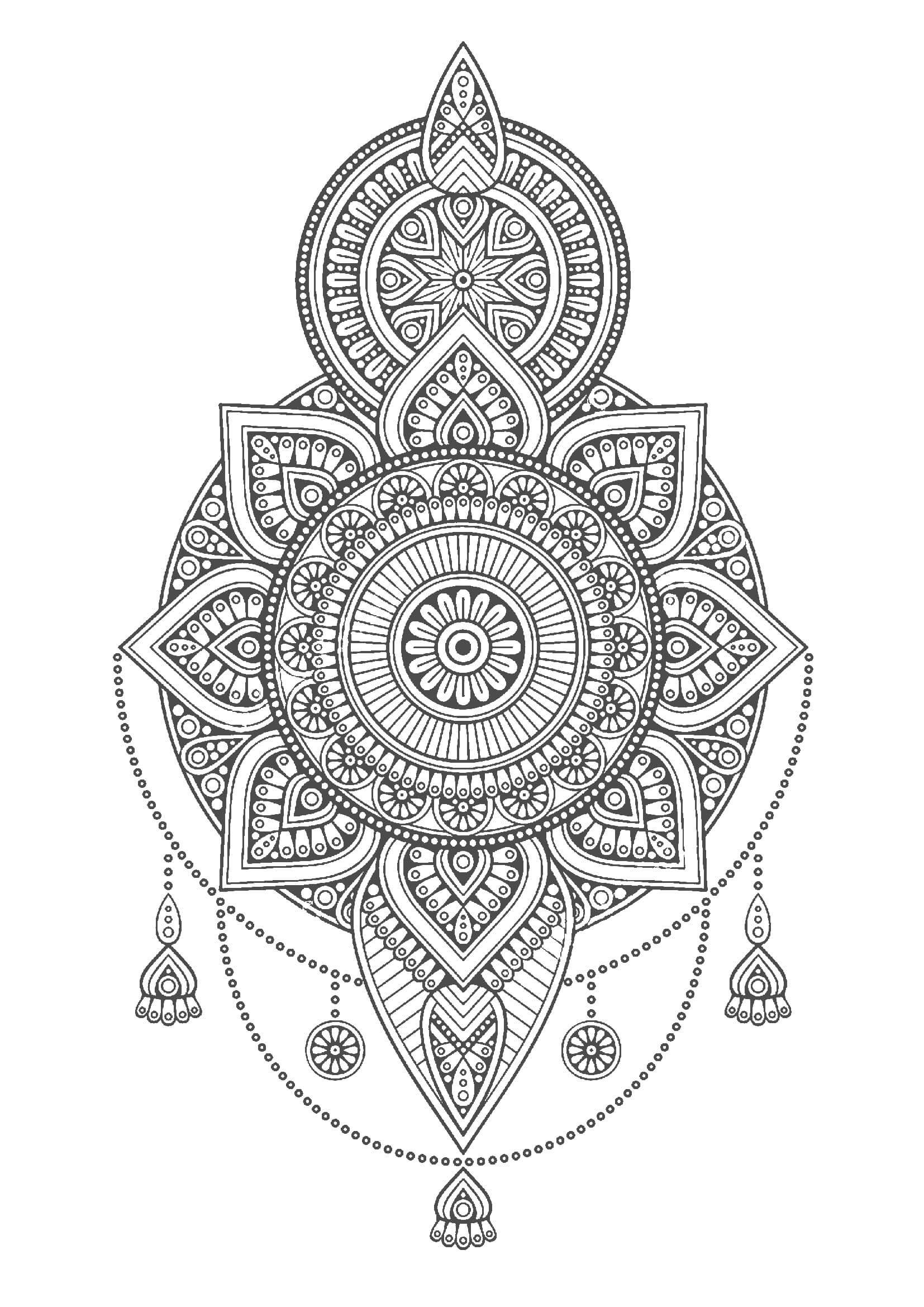 マンダラ塗り絵|曼荼羅(無料) |...