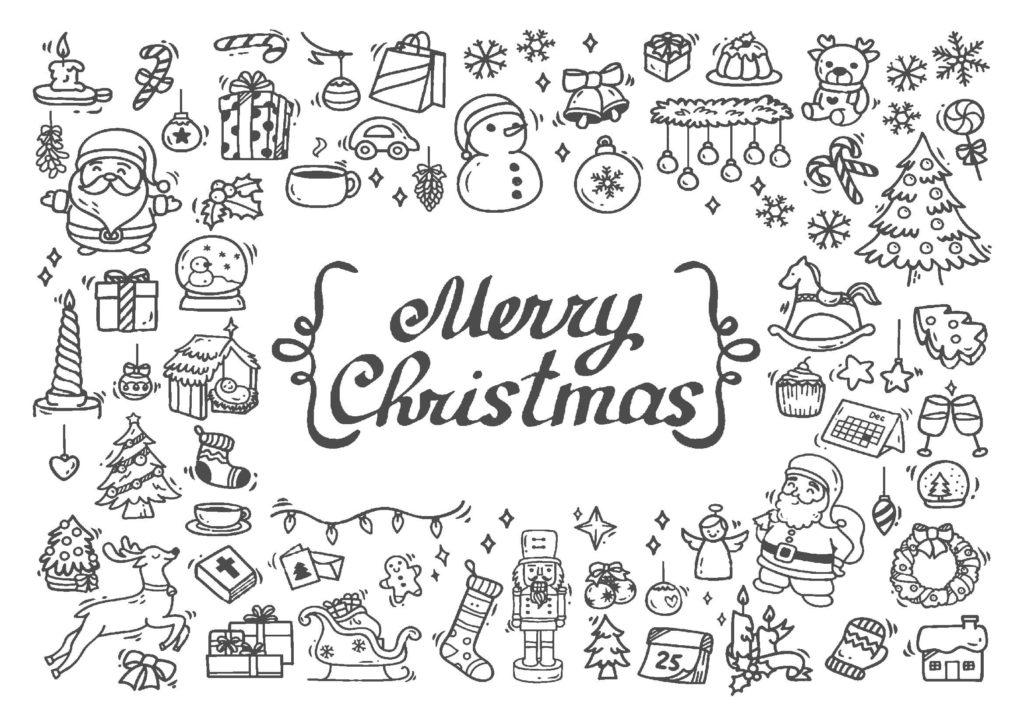 大人の塗り絵-クリスマス07
