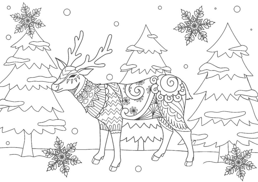 大人の塗り絵-クリスマス05