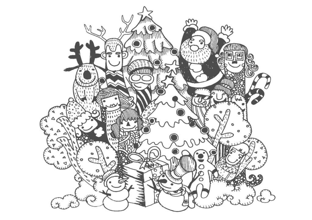 大人の塗り絵-クリスマス08