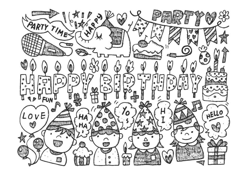 大人の塗り絵-誕生日04